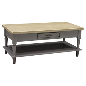 Chateau Storm Grey Coffee Table 2-Drawer With Shelf