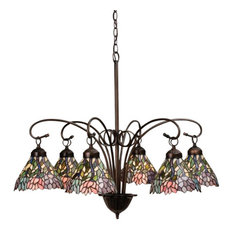 Meyda Tiffany 18720 Wisteria 6 Light Down Lighting Chandelier
