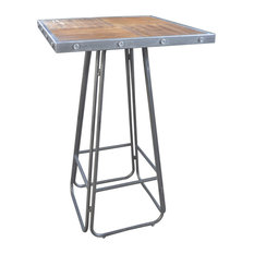 Emerald Home Laurell Hill Square Pub Table, Patina Gray