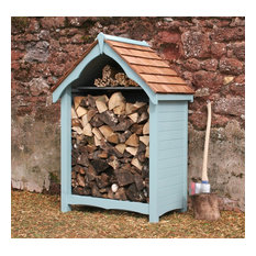 Log Stores, Victorian with Cedar roof.
