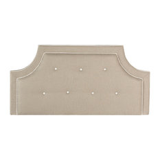 Safavieh Tallulah Light Oyster Arched Tufted Headboard Queen