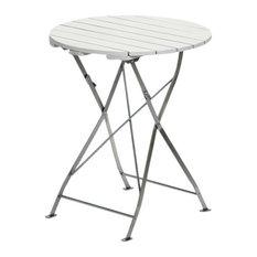Krögaren Round Garden Table, White