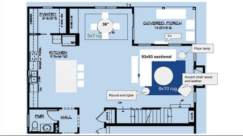 14x14 Living room layout
