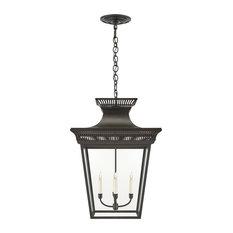 Elsinore Extra-Large Hanging Lantern, Black