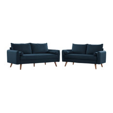 Revive Upholstered Fabric Sofa And Loveseat Set By Modway