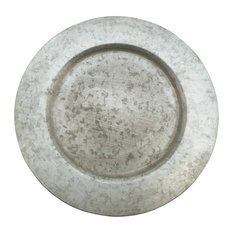 "Galvanized Rustic Metal 13"" Charger Plates, Set of 4"