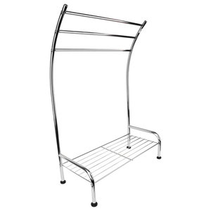 Free-Standing Tilston Chrome Towel Stand
