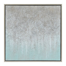 Silver Field Textured Metallic Hand Painted Abstract Wall Art by Martin Edwards