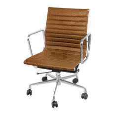 Langley Low-Back Office Chair, Vintage Tawny