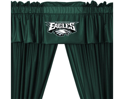 Sports Coverage Inc   NFL Philadelphia Eagles 5 Piece Curtains And Valance  Set   Curtains