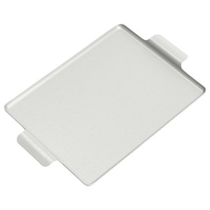 Handmade Small Anodised Silver Tray by Kaymet