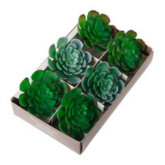 Flora Bunda - Succulent Napkin Ring (Lg Ring), Set Of 6 - Napkin Rings