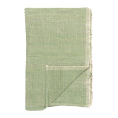 Handwoven Cotton Table Runner, Green