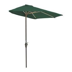 off-The-Wall Brella Half Umbrella, Green, 7.5', Olefin Fabric