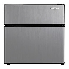 3.1 cu.ft, Double Door Refrigerator With Energy Star, Stainless Steel