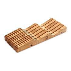 Bamboo Knife Drawer Storage Block