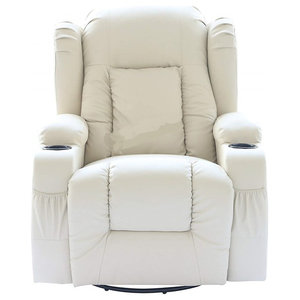 Modern Recliner Chair in Bonded Leather With Armchair and Heating Function