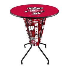 Lighted Wisconsin -inchBadger-inch Pub Table by Holland Bar Stool Company