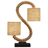 """Bora Bora Rope Lamp, 8x4"""""""