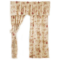 Greenland Antique Rose Panel Window Curtains, Set of 2