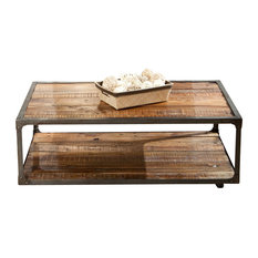 Raw   Greenwich Coffee Table With Casters   Coffee Tables