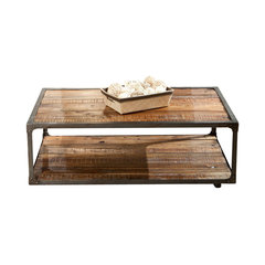 Greenwich Coffee Table With Casters. Industrial Coffee Tables