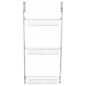 Storage Rack, Steel With Chrome Plated Finish and Open Shelves, Modern Style