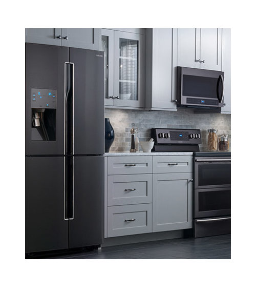 Kitchen Cabinet Colors With Black Appliances: Black Stainless Steel Appliances
