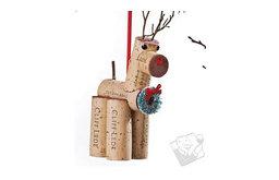 Dasher Cork Critter Reindeer Ornament
