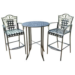 Mediterranean Outdoor Pub And Bistro Sets by International Caravan
