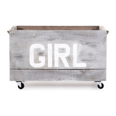 Zentique   Storage Cart, Girl   Kids Storage Benches And Toy Boxes