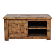 Heyford Rough Sawn Oak 1 Door Television Cabinet with 2 Shelves