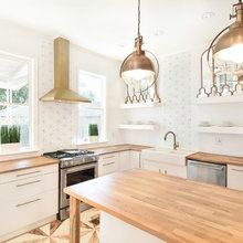 Kitchen of the Week: A Designer's Budget Wood-and-White Makeover