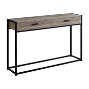 Accent Table in Dark Taupe and Black