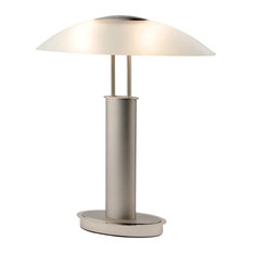 Avalon Plus LED 2-Tone Touch Table Lamp With Oval Frosted Glass Shade