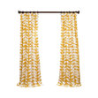 Embroidered Overlay Curtain Panel Pair