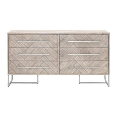 Orient Express Furniture Traditions Mosaic Double Dresser In Natural Gray Dressers