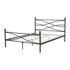 Milan Metal Platform Bed, Queen
