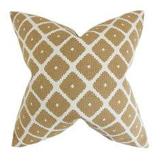 """Fallon Geometric Pillow, Copper 18""""x18"""""""