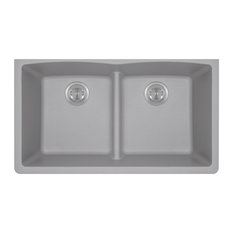Kitchen Undermount Sink Double Equal Bowl Low-Divide - AstraGranite