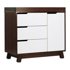 Hudson 3-Drawer Changer Dresser, Espresso/White