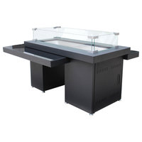 AZ Patio Heaters 2-Tier Fire Table With Glass Top