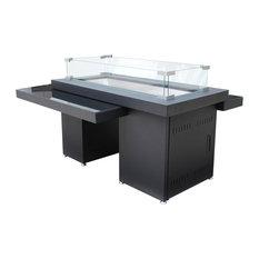 AZ Patio Heaters - AZ Patio Heaters 2-Tier Fire Table With Glass Top - Fire Pits