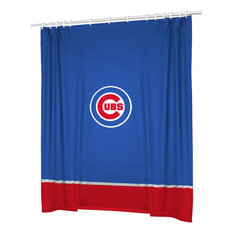 Sports Coverage   MLB Chicago Cubs Baseball Bathroom Accent Shower Curtain    Shower Curtains