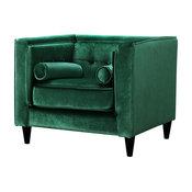 Taylor Velvet Chair, Green