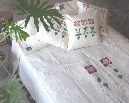 Arts And Crafts Linen Queen Duvet Bedding Home Design