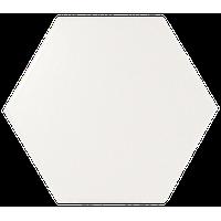 Evolution Hexagon Ceramic Subway Wall Tile, White Matte