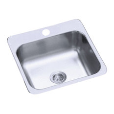 """Sterling B153-1 1 Hole 15"""" Single Basin Drop In Stainless Steel - Stainless"""