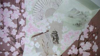 Japanese motives mural