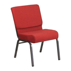 Bowery Hill   Bowery Hill Church Chair, Red, Silvervein   Dining Chairs
